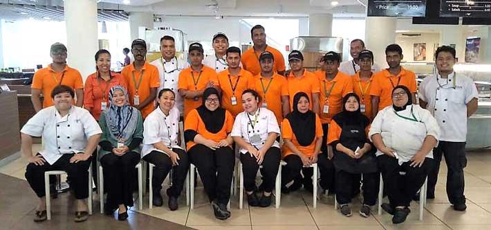 Cezars Kitchen staff Malaysia